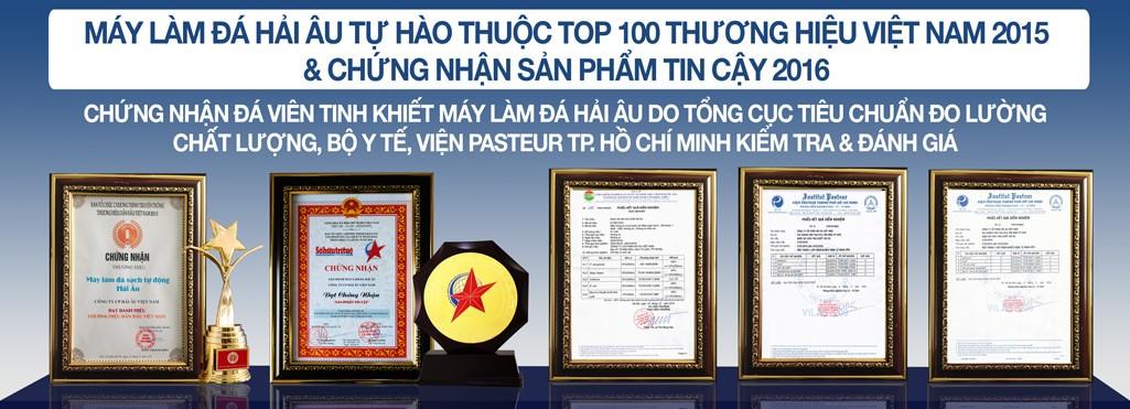 Các giải thưởng và giấy chứng nhận của Hải âu group