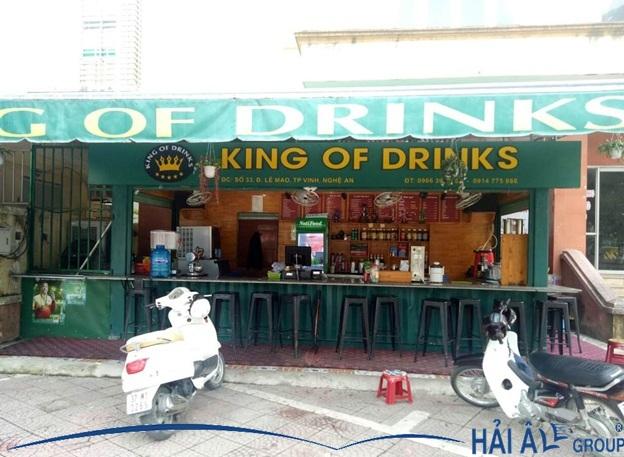 cà phê king of drink sử dụng máy làm đá hải âu