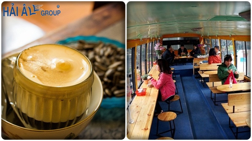 cà phê được làm từ máy đun nước nóng hải âu