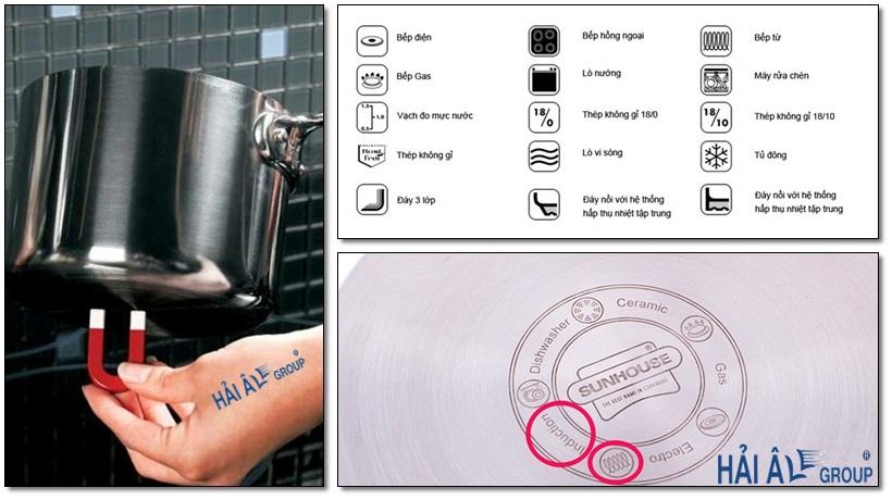 cách nhận biết loại nồi dùng với bếp từ công nghiệp