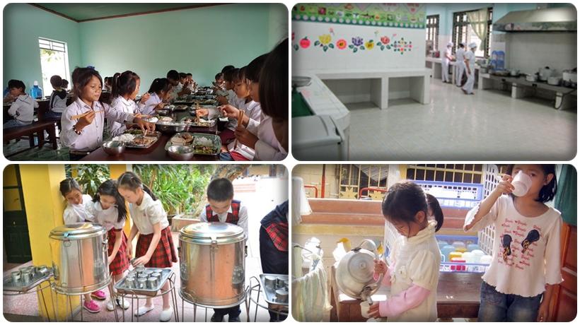 nguồn nước uống và nấu ăn chưa đảm bảo tại 1 số trường học