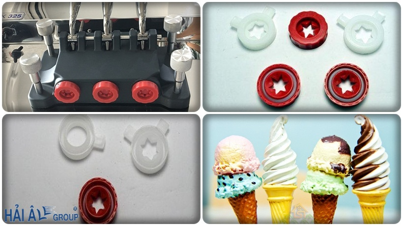 khuôn tạo hình kem của máy làm kem